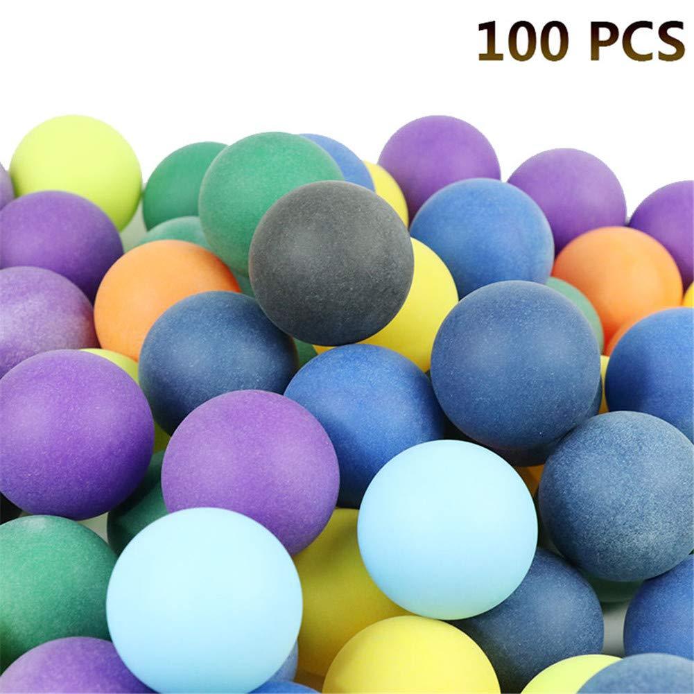 Sue-Supply 100 Stücke 40mm 2, 4g Farbige Ping Pong Bälle Unterhaltung Tischtennisbälle Mischfarben für Spiel und Werbung
