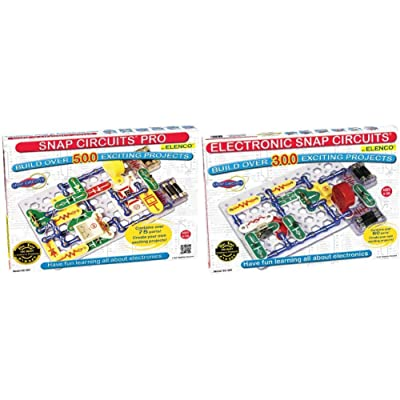 Snap Circuits Pro SC-500 Electronics Exploration Kit | Over 500 Projects | 75 Parts | for Kids 8+ & Classic SC-300 Electronics Exploration Kit | 60 Parts | for Kids 8+: Toys & Games