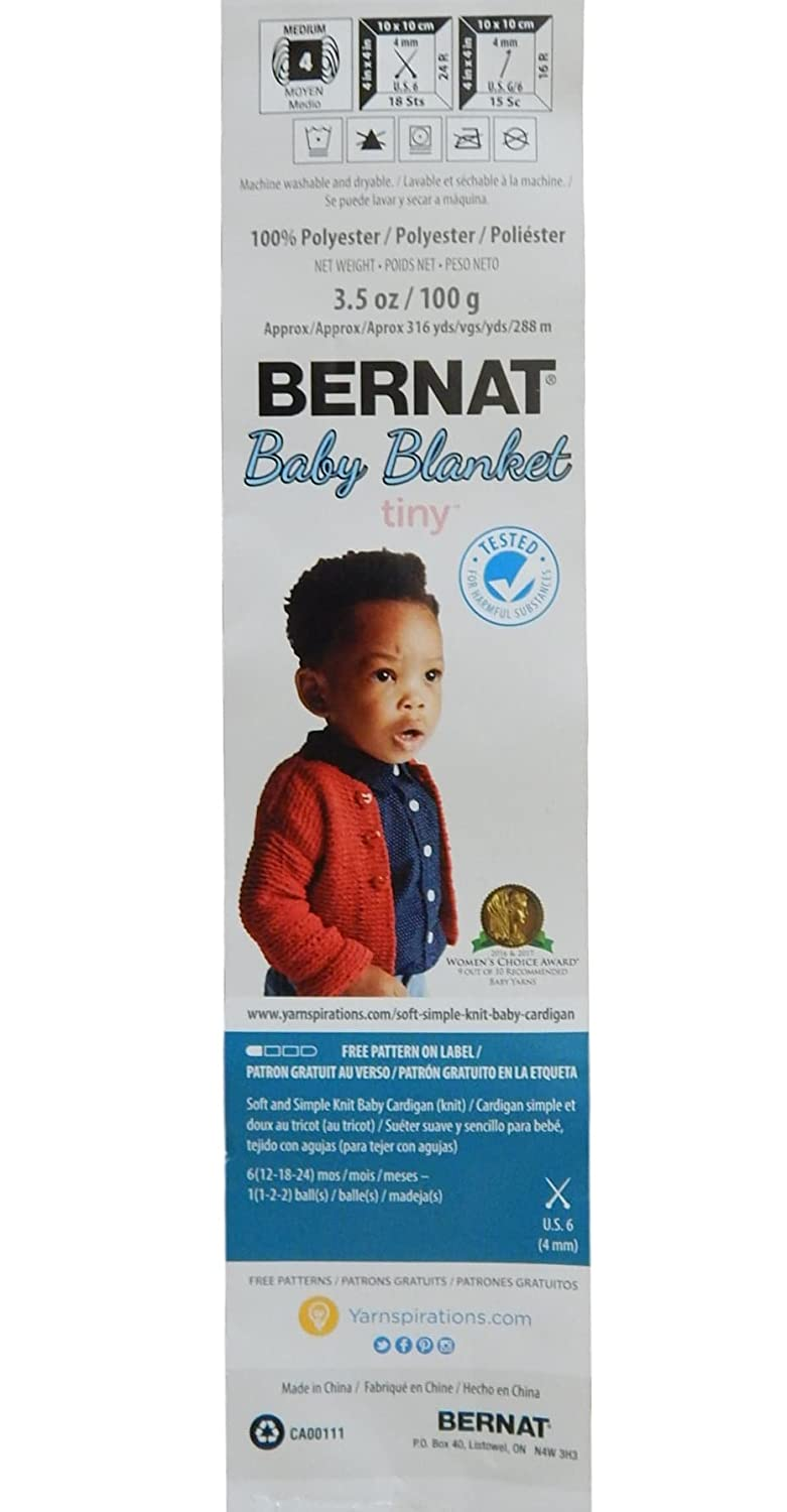 Amazon.com: Bernat Baby Blanket Tiny 3 Pack 100 Percent Polyester ...