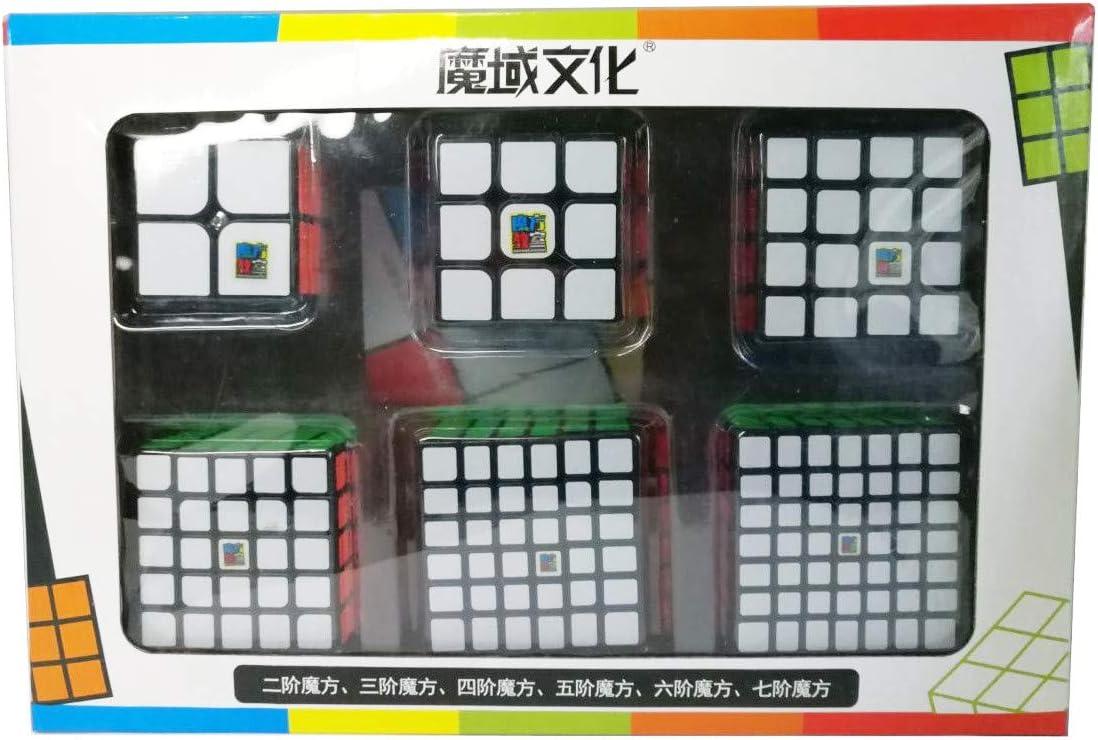MoFang JiaoShi Pack de Cubos Moyu 234567 - Base Negra: Amazon.es ...