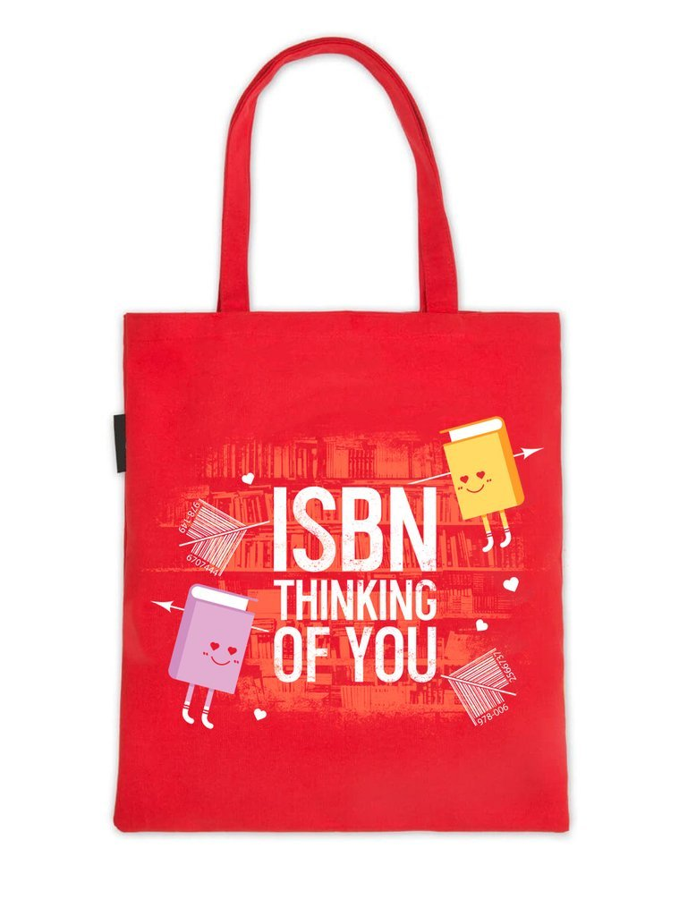 Book Riot by Out of Print ISBN Thinking of You Tote Bag
