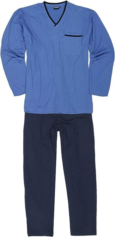 ADAMO Pijama largo para hombre en color azul claro, tallas grandes hasta 10XL y en tallas largas hasta 122.