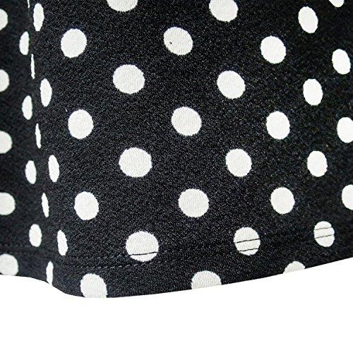 Dot Short Sleeve Size Summer Bow Black Years Sundress Beach Girls Tie 4 12 Dress 5wqFxanIZ