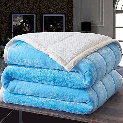 WDZA Manta Gruesa Manta De Invierno Estudiante Dormitorio Doble Manta 150X200Cm Azul