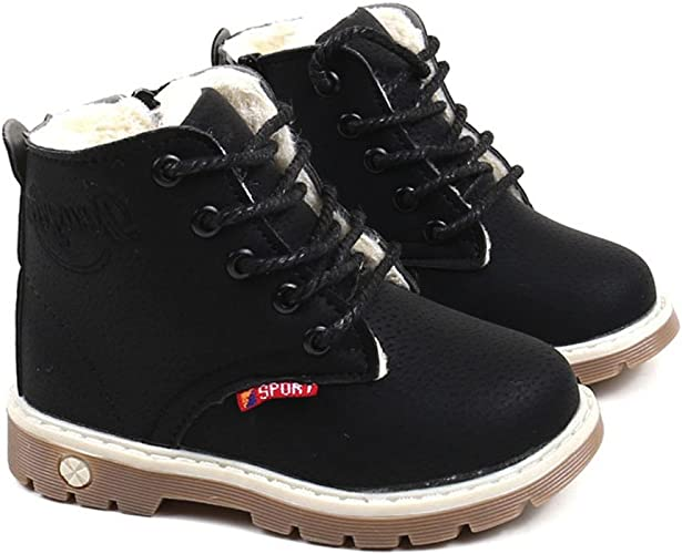 UK 12 Kids NEW CUTE GIRLS ANKLE BOOTS AUTUMN SPRING SHOES WATERPROOF UK 8 Inf