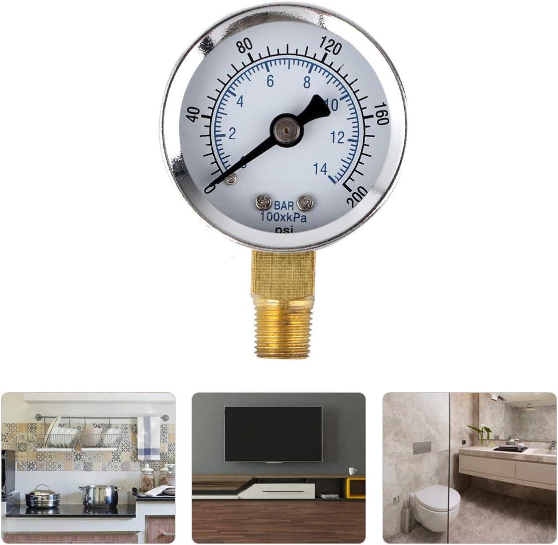 Hemobllo 0 60 Psi 0 4 Bar Npt Luftdruck Manometer Mit Seitlicher Montage Küche Haushalt