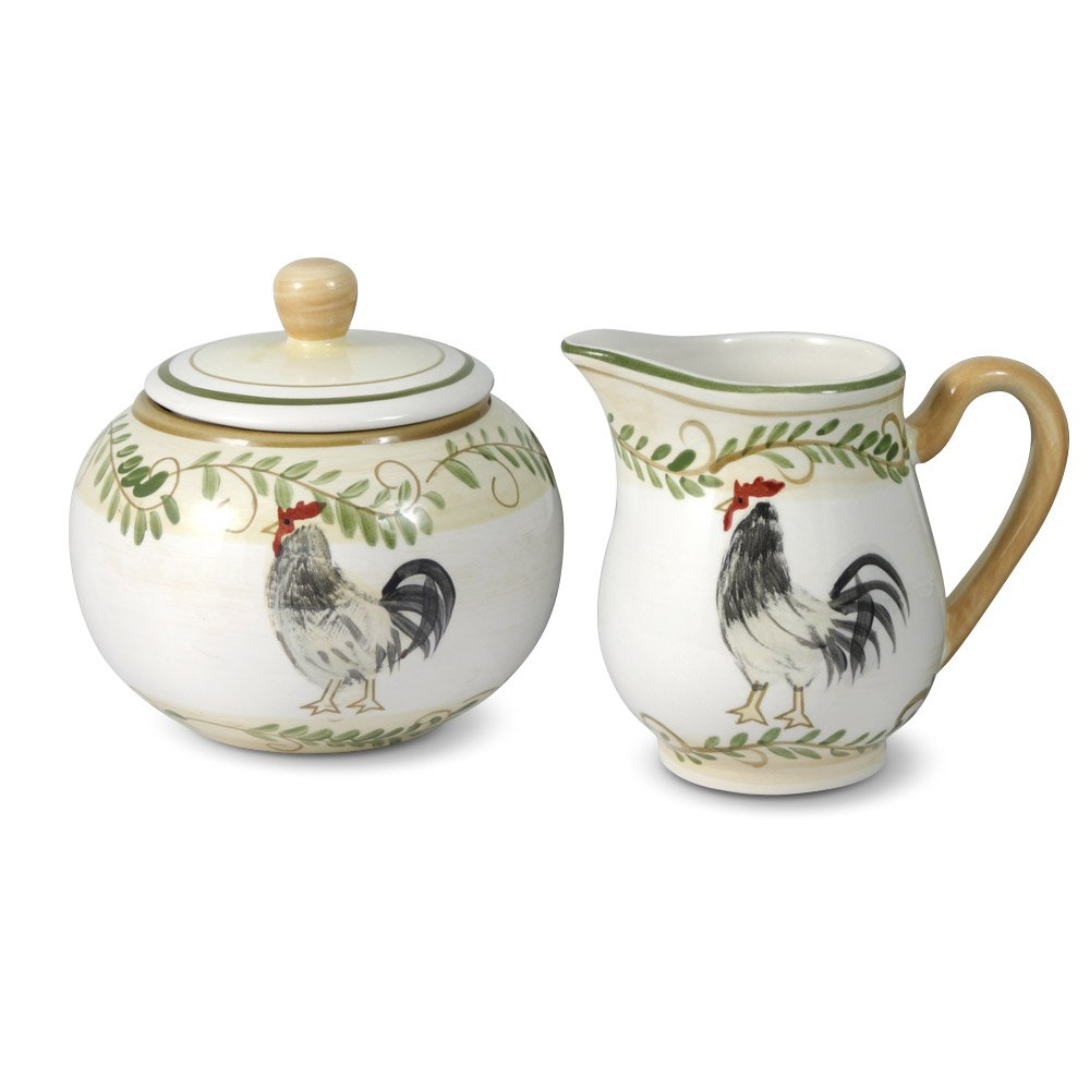 Pfaltzgraff Country Cottage Sugar And Creamer Set COMINHKPR82664