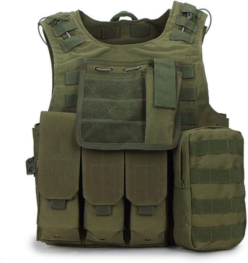 Vest Guerra De Seguridad del Equipo De Juegos Senderismo Entrenamiento Militar Chaleco Táctico Anfibio Gilet Al Aire Pistola De Aire Comprimido Green