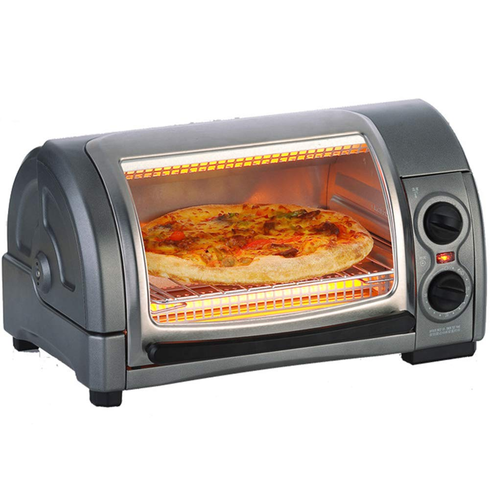 STBD- 12L, Household countertop Mini Curved Oven,chip Tray and 1300W Power, Infrared Heating Tube, Gray by Toaster Oven