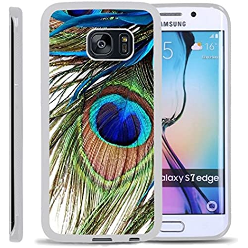 S7 Edge TPU Case,Peacock Feather PREMIUM BUMPER Bumper Style Premium Case Slim Fit Dual Layer Protective Cover for Samsung Galaxy S7 Edge Sales
