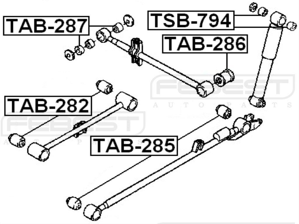 FEBEST TAB-282 Rear Suspension Arm Bushing