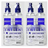 4 Pack Zeiss Lens Cleaner Spray 8 Oz Bottles for Glasses Camera Laptops Cellphones (32oz) + 4 Microfiber Cleaning Cloths (4)