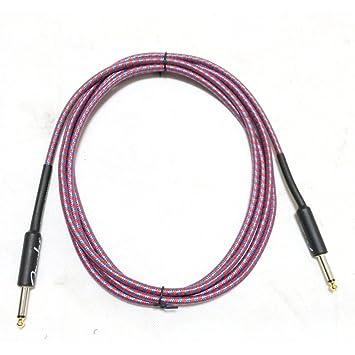 WANDIC Cable de guitarra de 3 metros de cable para instrumentos eléctricos de alta calidad AMP cable recto a recto: Amazon.es: Instrumentos musicales