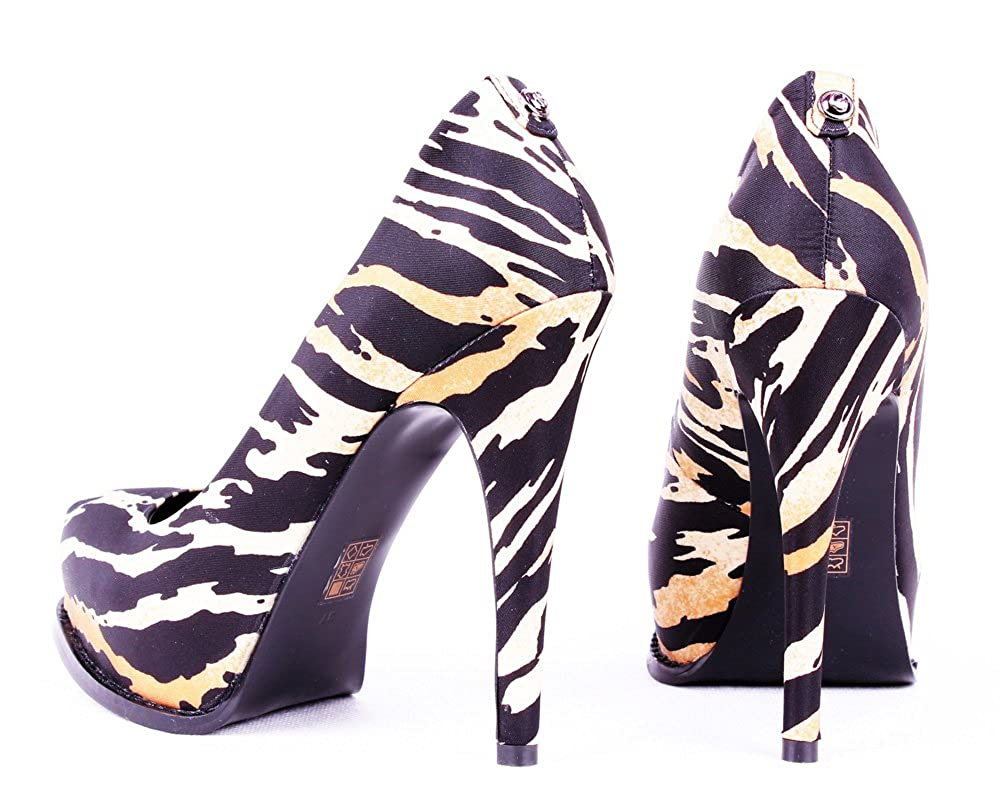 Guess Damen Plateau Pumps Plateau Damen Highheels Animal-Print - 7eebce