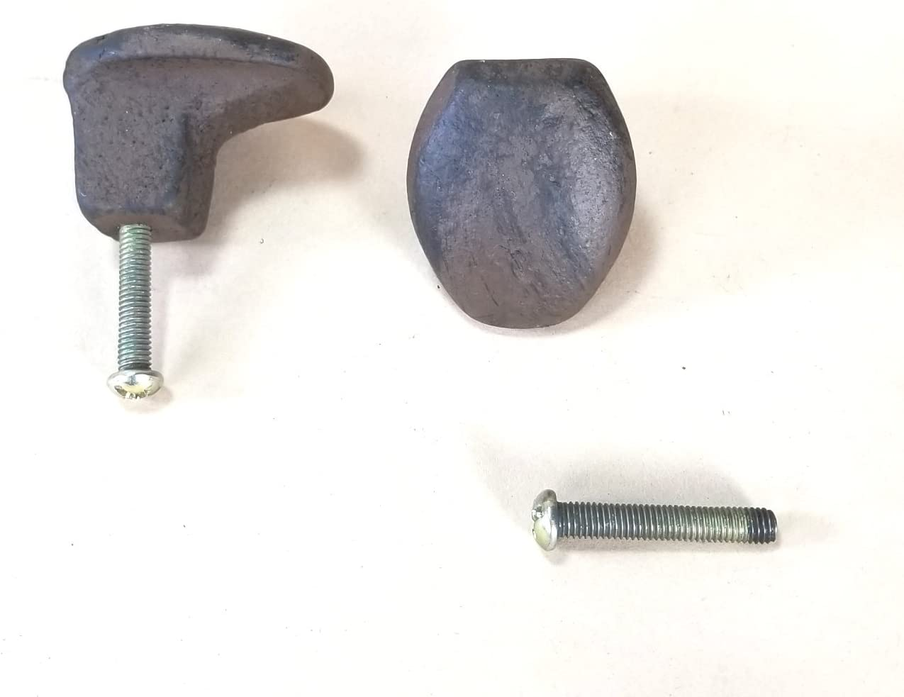 """2 pc Cast Iron Railroad Spike Drawer or Cabinet Pulls with screw 3/"""""""