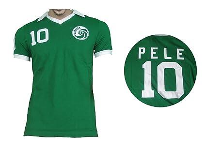 25a150394 Amazon.com   Umbro Cosmos New York Retro Pelé Shirt Green   Sports ...