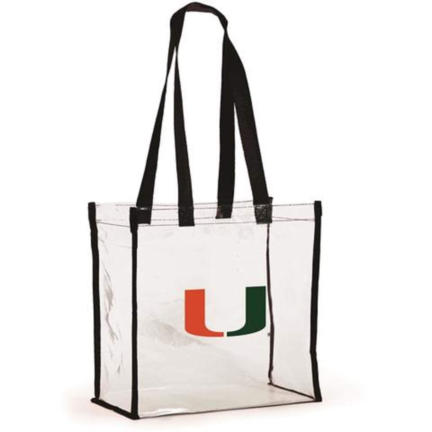 Clear with Long Handles for University of Miami Hurricanes Fans. Desden Style 214 Open Top Stadium Tote