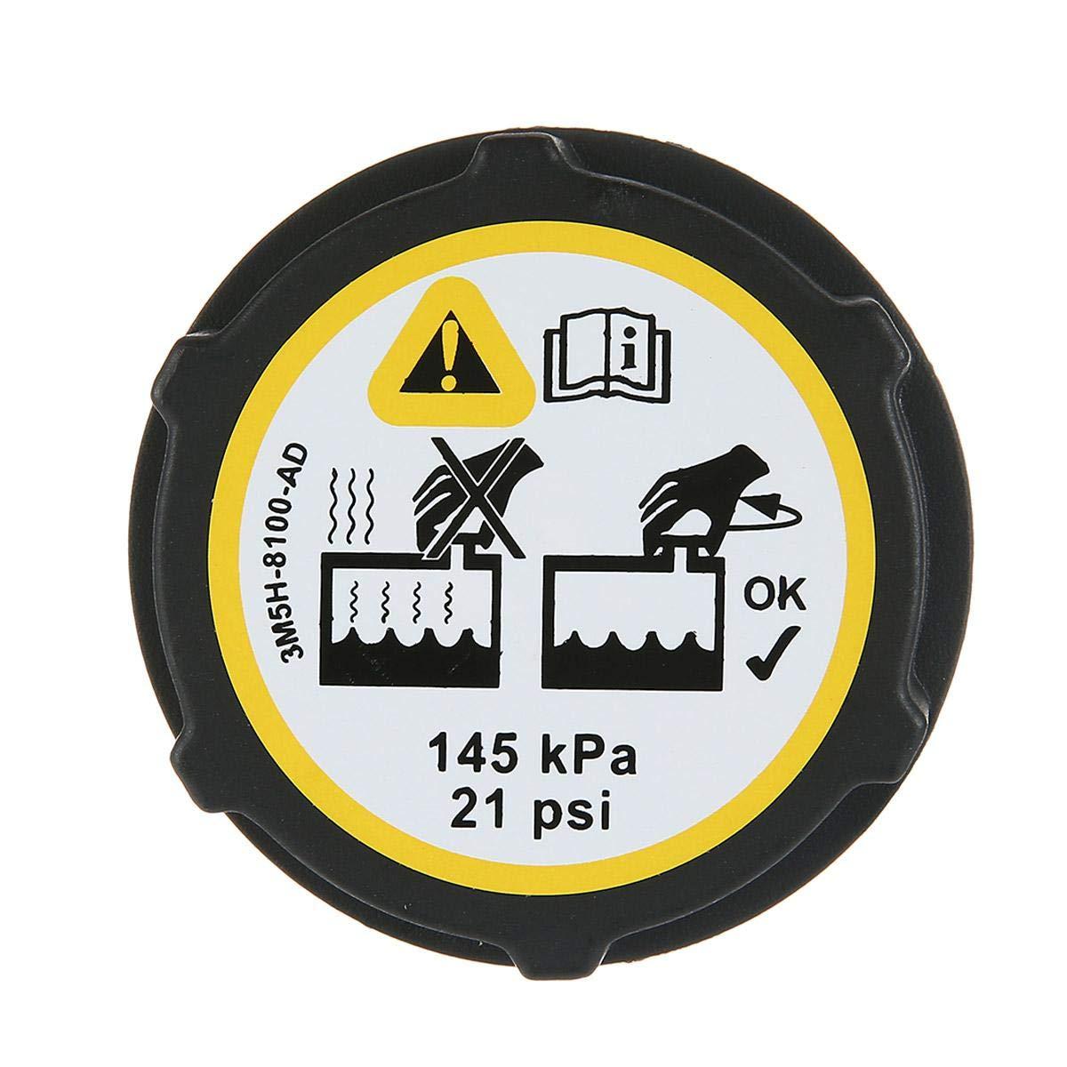 DokFin Expansion Tank Cap Radiator Cap for Ford//Focus//Fiesta//C-max//Mondeo//Transit #1301104 3M5H-8100-AD, Black