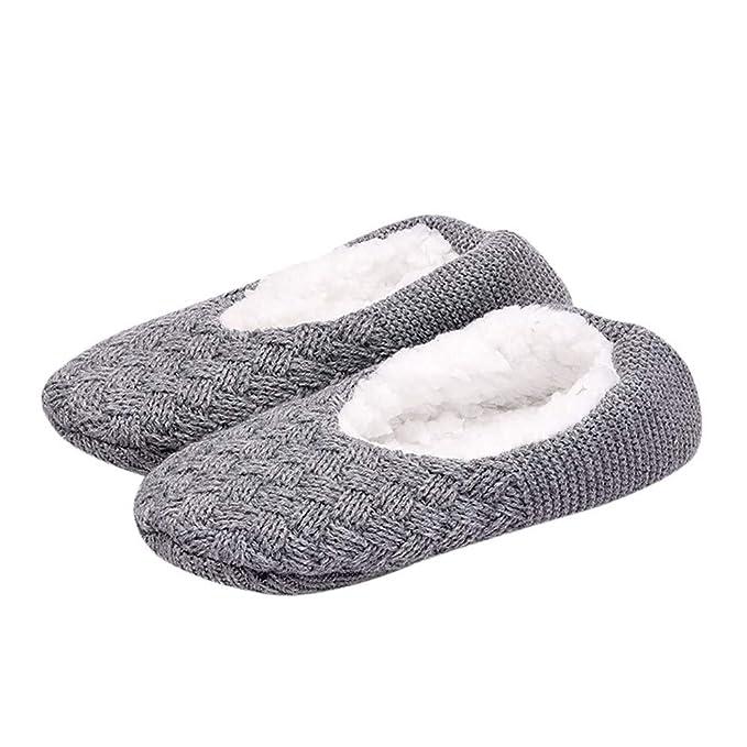 HCFKJ Calcetines Mujer Zapatillas Para Mujer Para Mujer Zapatillas Antideslizantes Para El Piso Warm Fleece Gripper Zapatillas Calcetines: Amazon.es: Ropa y ...
