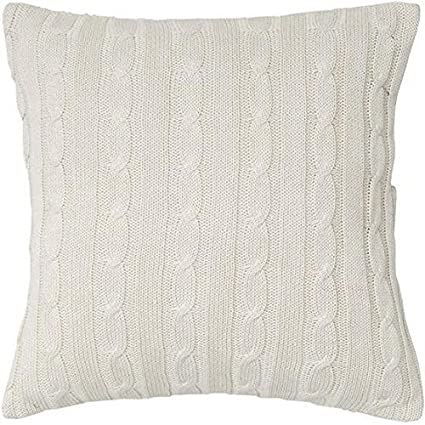 Cable Knit Decorative Pillow 40HX40W POLY CREAM By Home Decorators Mesmerizing Home Decorators Pillows