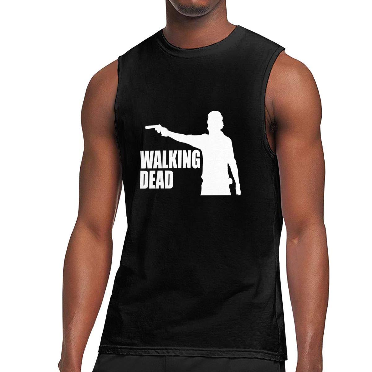 Seuriamin The Walking Dead Fashion Jogging Sleeveless Muscle Short Sleeve T Shirts