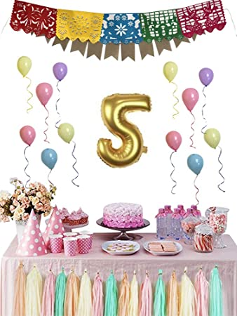 XXTAXN Party Decorations Supplies Happy Birthday Banner Balloons