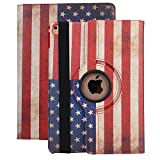 9.7 inch iPad Stand,TechCode New 360 Degrees Rotating PU Leather Stand Smart Case Cover Polka Dot Pattern Case for iPad 2,iPad 3,iPad 4