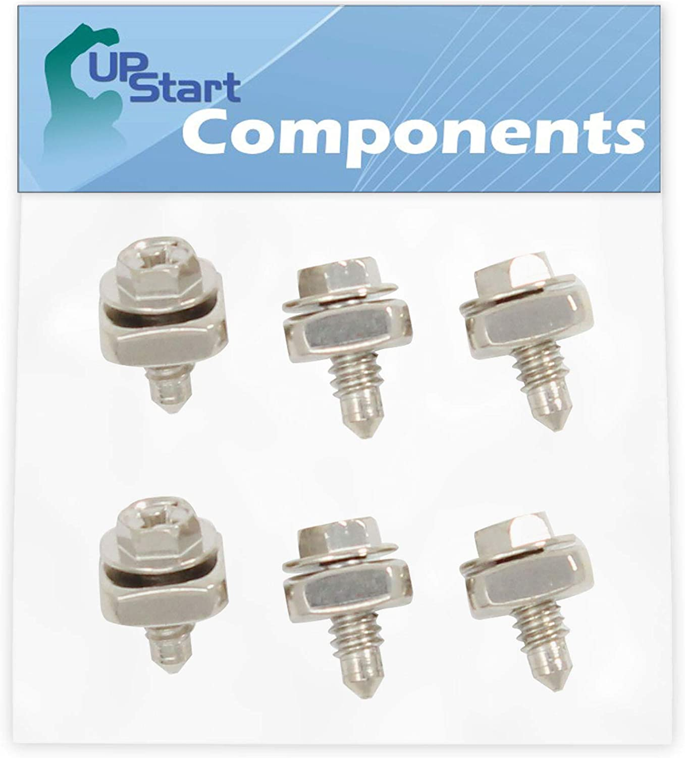 6-Pieces 279393 Dryer Cord Screw Kit Replacement for Kenmore/Sears 110.96576200 Dryer - Compatible with 279393 Terminal Block Screw Kit