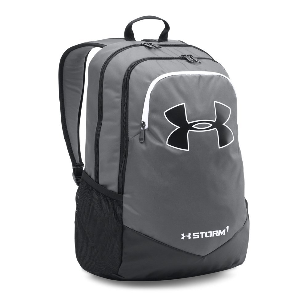 Under Armour Boy's Storm Scrimmage Backpack, Graphite (040)/White, One Size by Under Armour