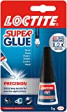 Loctite Super Glue Precision / Extra strong liquid glue for metal, ceramics, plastic, rubber, leather, wood / 1 x 5g bottle