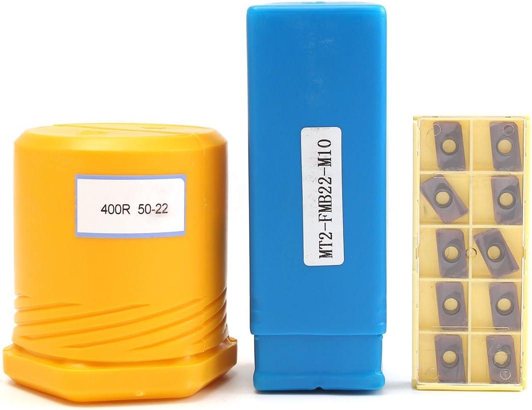 Moligh doll MT2 M10 /& 50mm Stirnfraeser 10 Stueck APMT1604 Hartmetallschluessel CNC