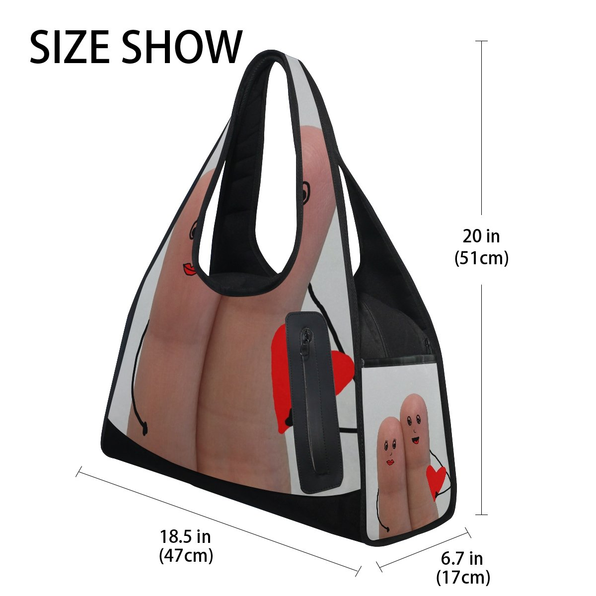 AHOMY Sports Gym Bag Love Marriage Duffel Bag Travel Shoulder Bag by AHOMY (Image #4)
