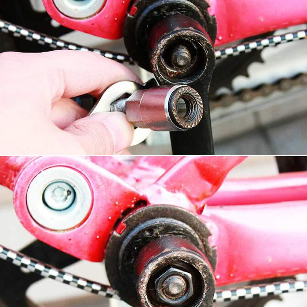 Moto Inferior removedor de la Herramienta del Soporte de Bicicletas Profesional Crank Extractor Extractor de manivela desmontaje Herramienta Llave Herramientas de reparaci/ón Kit 1Ponga