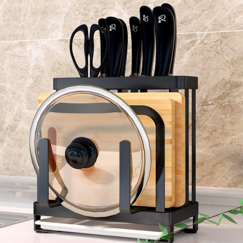 ASIERY Multi-Tool Kitchen Organizer Kitchen Storage Cabinet Floor Rack (Color : Black) by ASIERY
