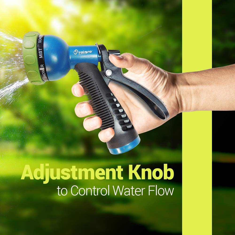 Amazon.com : Raigro 8-Pattern Pull-Trigger Lawn and Garden Hose Spray Nozzle with Adjustable Flow : Garden & Outdoor
