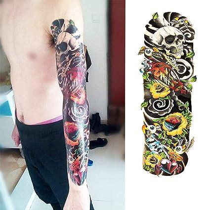 7pcs manga del brazo mangas del tatuaje tatuaje pieza Hell patrón ...
