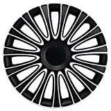 15 inch Le Mans White/Black Wheel Cover Kit - 4 Pack