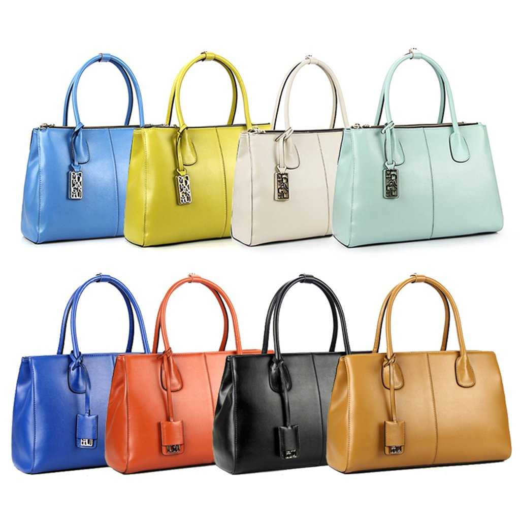 Beige Homyl 2 Pieces Genuine Leather Detachable Bag Handle Handbag Shoulder Bag Straps Replacements for Purse Making 58cm