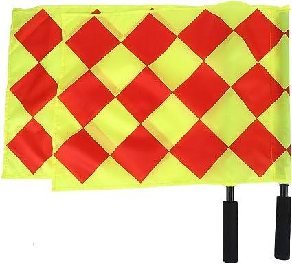 Acouto Schiedsrichterfahnen 2PCS Schiedsrichter Flag Schiedsrichter Linienrichter Flagge mit Aufbewahrungstasche f/ür Sport Fu/ßball Fu/ßball Hockey Training