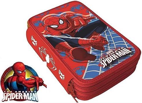 Spider-Man- Spiderman de Marvel Estuche plumier con Tres Pisos (AST1555): Amazon.es: Juguetes y juegos