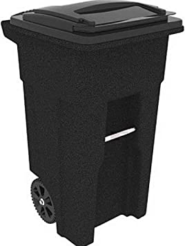 Outdoor Trash Garbage Can Garden Hideaway 33 Gal Yard Bin Patio Resin Container