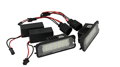 Plafoniera Targa Led Golf 7 : Kit luci targa led vw golf 4 5 6 7 eos 06 lupo new