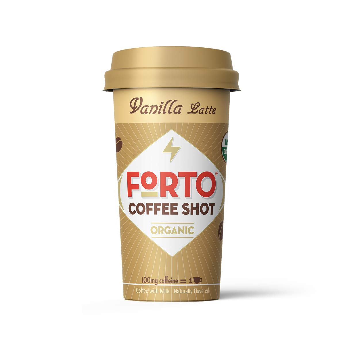 FORTO Coffee Shots - 100mg Caffeine, Vanilla Latte, Ready-to-Drink on the go, Cold Brew Coffee Shot - Fast Coffee Energy Boost, 12 Pack by FORTO