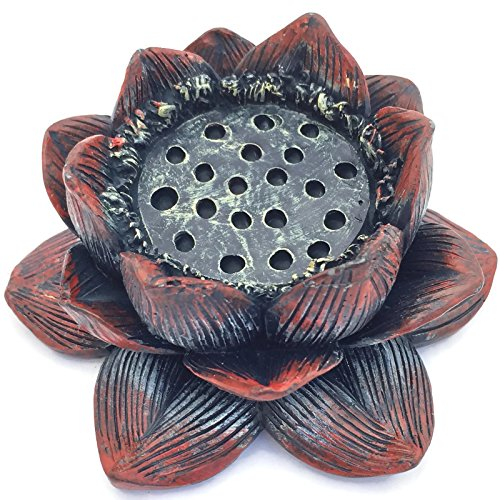 Lotus Flower Incense Burner and Votive Tea Light Candle Hold