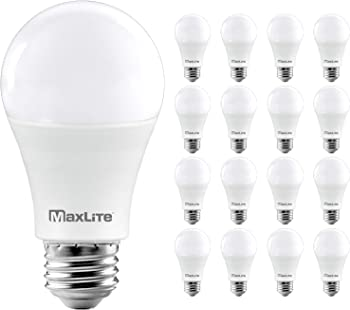 16-Pack MaxLite A19 Dimmable LED Light Bulbs