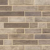 MSI Stone SMOT-GLSIL-DRIFT6MM Driftwood Interlocking Pattern Tile with Matte Finish, Brown