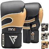 RDX Bazooka Boxing Gloves Muay Thai Training Leather Sparring Punching Bag Mitts kickboxing Fighting