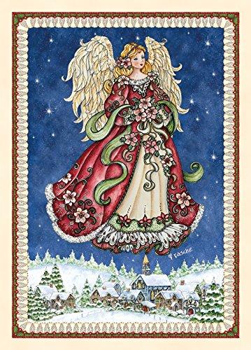 (Performing Arts Velvet Touch Finish, Full Color Inside Christmas Angel Stationery Paper, 05296-16)