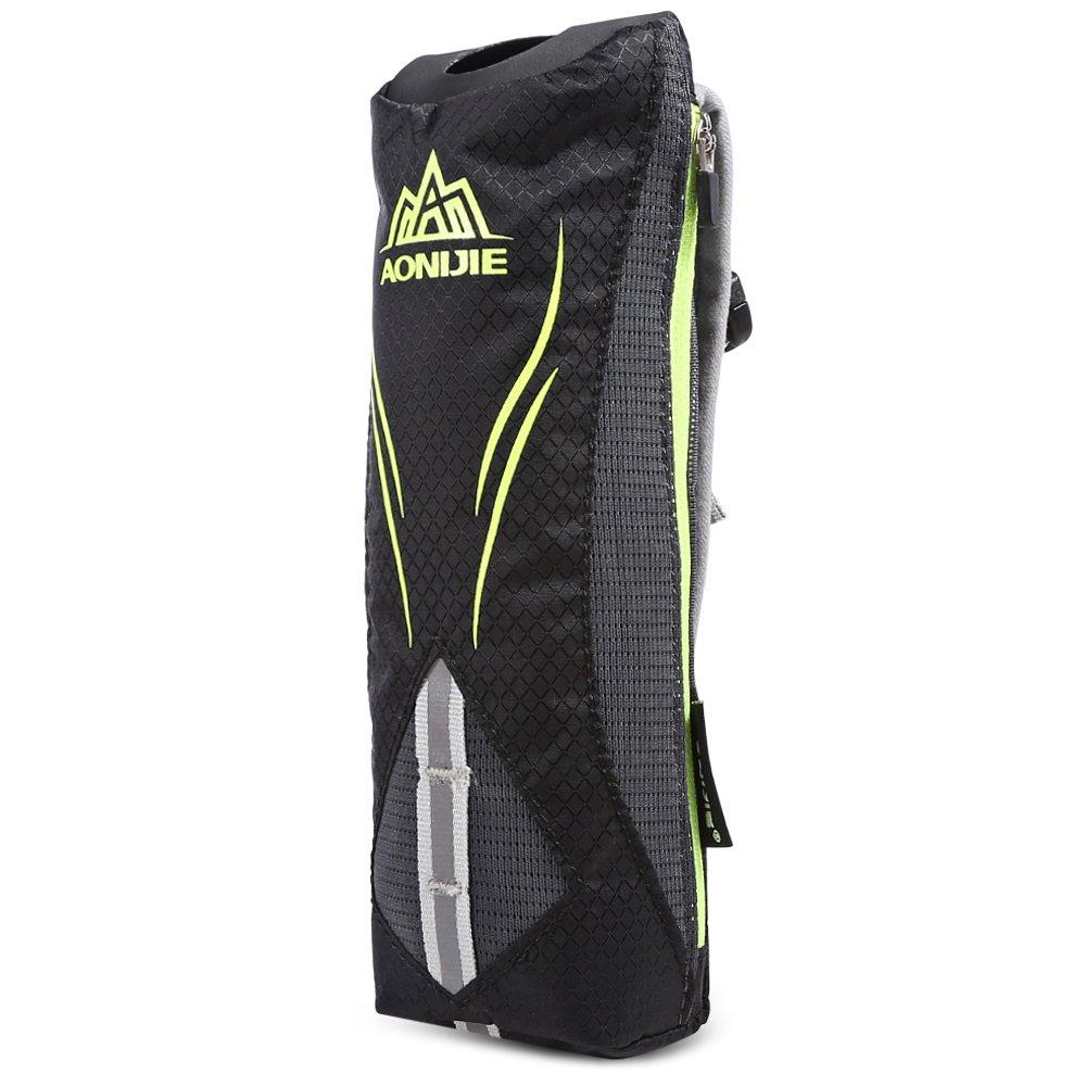 Al aire libre 500 ml botella de agua de mano Running bolsa mochila de hidratació n bebida bolsa correa para deportes al aire libre, negro Top of top store
