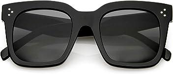 3c2365d8838 zeroUV - Retro Oversized Square Sunglasses for Women with Flat Lens 50mm